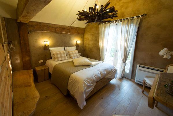 Les Chambres du Vivier, chambres d'hôtes à Durbuy, Ardenne - Chambre Bois