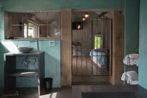 Les Chambres du Vivier, chambres d'hôtes à Durbuy, Ardenne - Chambre Pierre, salle de bain