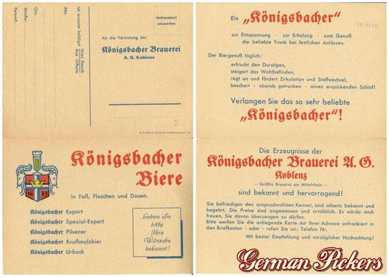 AK / Foto - Königsbacher Brauerei Koblenz Produkte