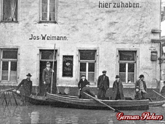 AK / Foto - Wirtshaus Jof. Weimann in Koblenz - Extrem rares Schild der Königsbacher Bräu um 1900