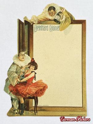 AK / Foto - alte Menükarte der Deinhard Sektkellerei aus Koblenz - Reklame Cabinet um 1890