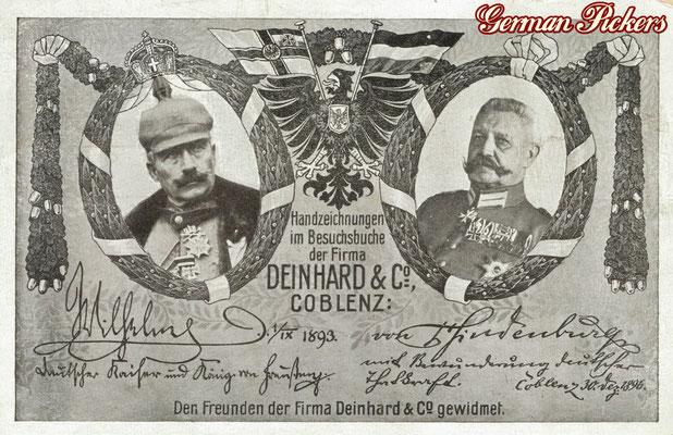 AK / Foto - Deinhard Sektkellerei um 1900 Coblenz / Koblenz - Besuch Kaiser Wilhelm