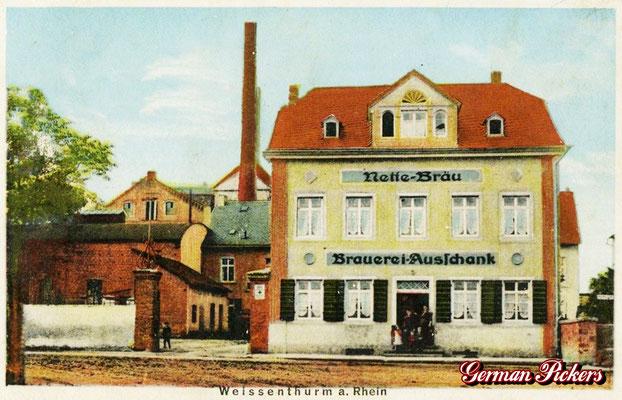 AK / Foto - Alte Fabrikansicht des Stammhauses der Bubser Nette Bräu in Weissenthurm um 1890
