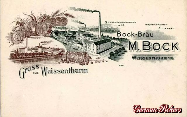 AK / Foto - Fabrikansicht Bock Bräu Weißenthurm um 1900