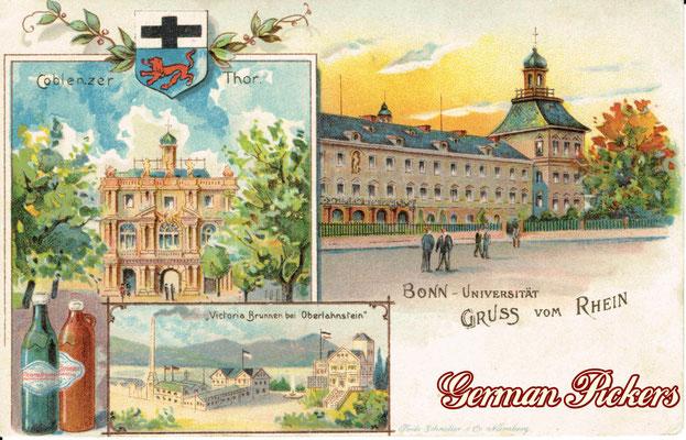 AK / Foto - Victoria Brunnen BVron Oberlahnstein - bei Koblenz - um 1900