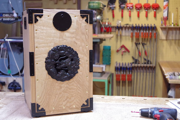 和箪笥風に作ったカホン
