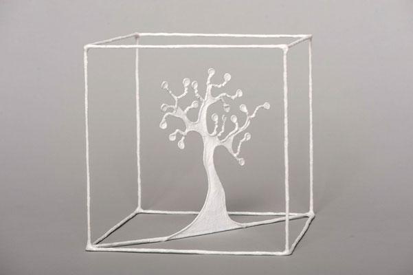 Fil de fer / soudure / papier / 20/20 cm (atelier)