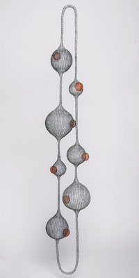 Fil de fer / cuivre - hauteur:  180 cm (atelier)
