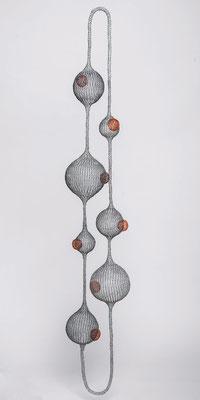 180 cm de haut / fil de fer - cuivre