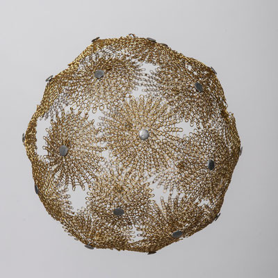 Diamètre 30 cm / fil de fer - laiton - soudures