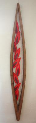bois / fil de fer / soudure / Papier / 180 cm de haut