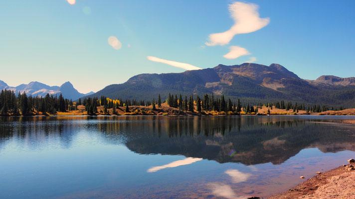 Molas Lake, de plaats voor een pauze stop