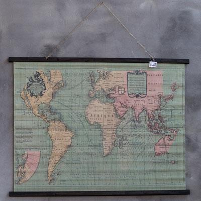 Wereld kaart in kleur