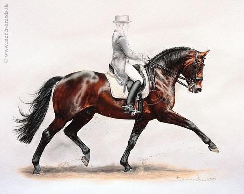 Lord Sinclair in Aquarell, freie Arbeit 40 x 50cm.