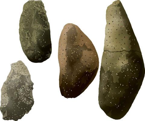 歴史物 時代の道具 種蒔機 石器