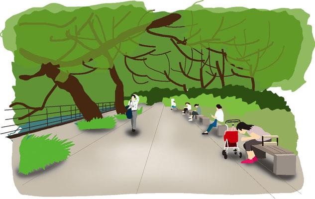 植物 自然 緑 庭園 公園 千鳥ヶ淵 遊歩道