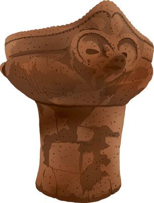 歴史物 時代の道具 獣面把手付縄文土器