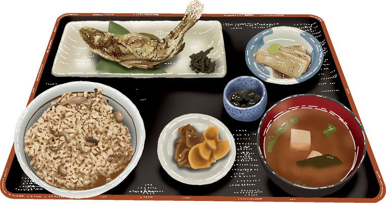 料理 食事 川魚定食