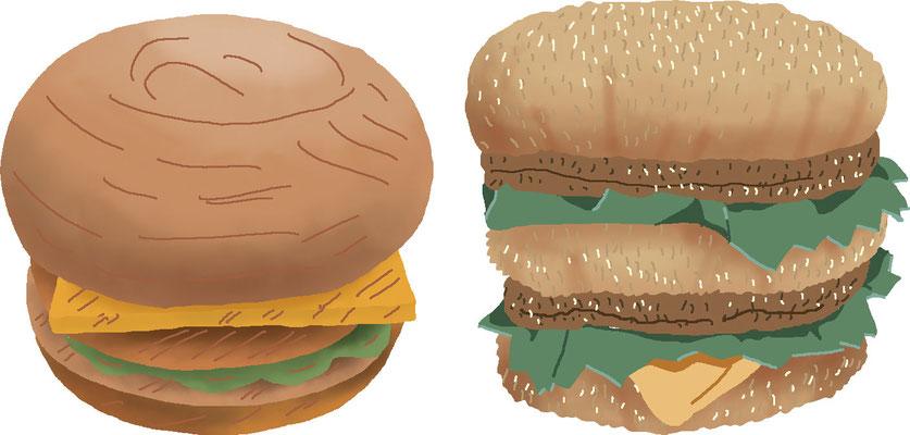 料理 食事 ハンバーガー