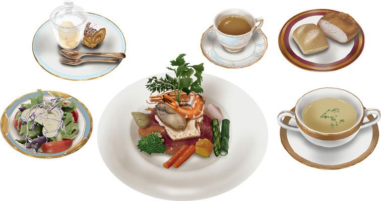 料理 食事 フレンチ ビストロ ランチ コース