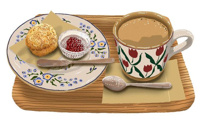 料理 食事 アイルランド カフェ ミルクティー スコーン