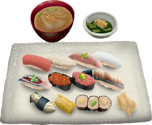 料理 食事 赤酢の寿司