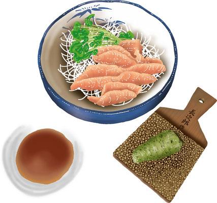 料理 食事 奥多摩ヤマメの刺身