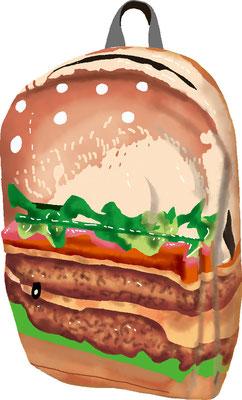 雑貨 家具 生活用品 リュック ハンバーガー