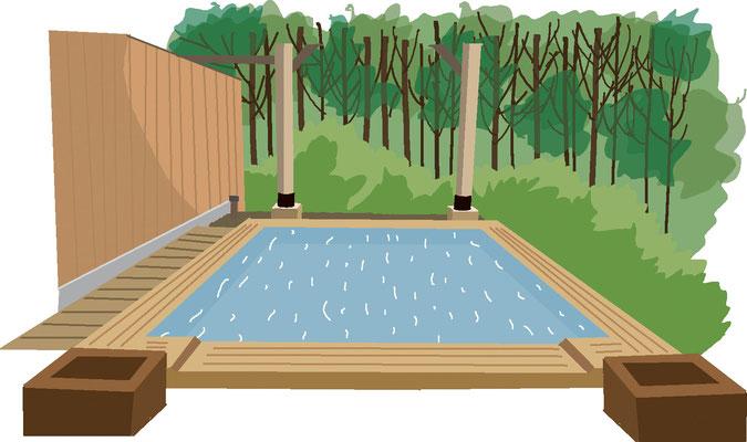 植物 自然 緑 庭園 公園 露天風呂