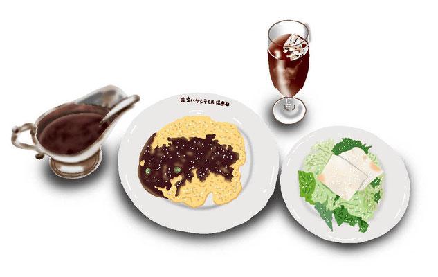 料理 食事 ハヤシオムライス
