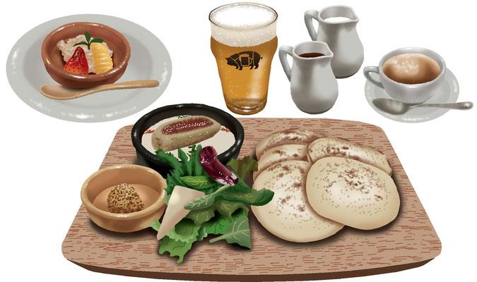 料理 食事 シャルキュトゥリー パスティッチャ ソーセージ