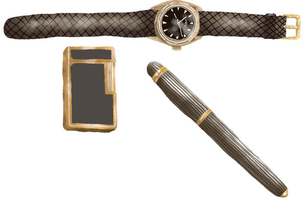雑貨 家具 生活用品 白洲次郎 腕時計 ライター 万年筆