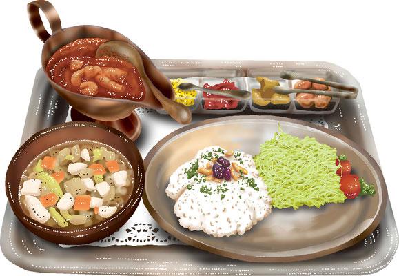 料理 食事 海老カレー