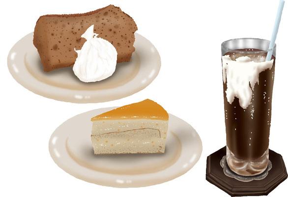 菓子 スイーツ 和菓子 洋菓子 シフォンケーキ オレンジケーキセット