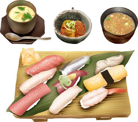 料理 食事  にぎり寿司