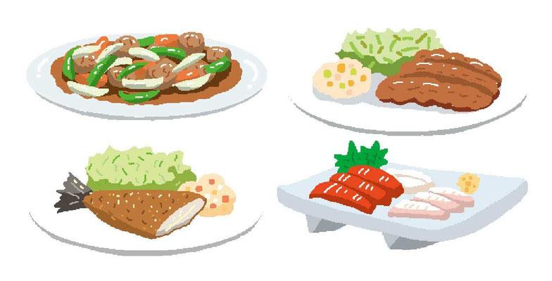 料理 中華料理 炒め 揚げ物 フライ 刺身 和食