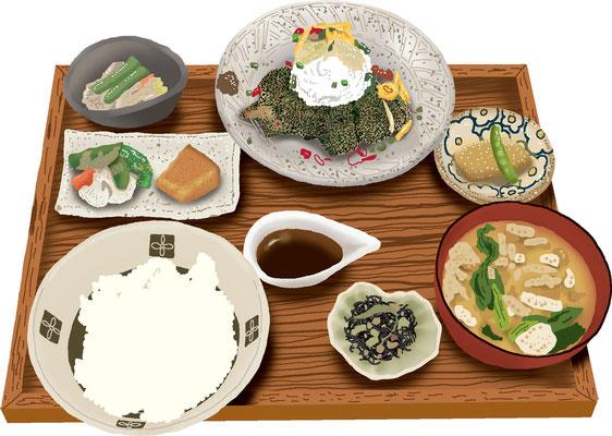 料理 食事 九州 ランチ 定食 鶏天