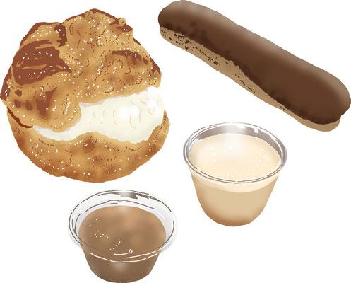 菓子 スイーツ 和菓子 洋菓子 シュークリーム プリン エクレア