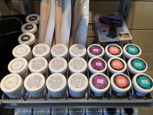 Peintures Chalky Finish de chez Rayher