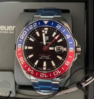 """Aquaracer 300M Calibre 7 GMT """"Pepsi"""""""