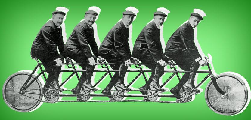 Die Opel-Brüder (Carl, Wilhelm, Heinrich, Fritz und Ludwig)