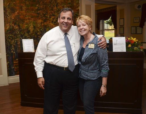 Governor Chris Christie visits The Chelsea at Bridgewater assisted living