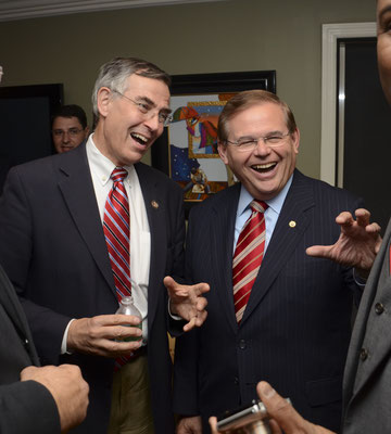 Former Congressman Rush Holt and NJ Senator Bob Menendez