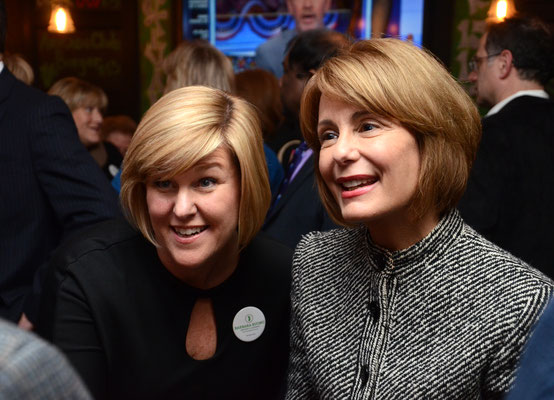 Mayor Colleen Mahr with State Senator Barbara Buono