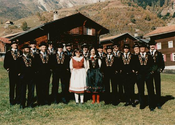 Singwochenende in Sedrun 1985