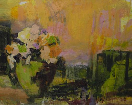 Vase auf Gelb   2008   110x140  A.a.L.