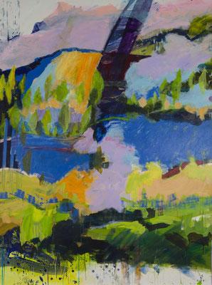 Landschaft blau - grün   2011  150x200 A.a.L.
