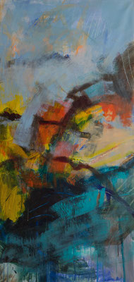 Abstraktion u. Farbe 3  2017  135x65  A.a.L.
