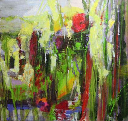 Blütenpracht  2009                       90x95       Acryl auf Leinwand                                   verk.