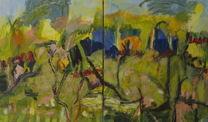 jardin du Sud 1+2   Diptychon  2015  A.a.L.